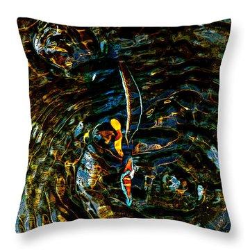 Golden Ripples Throw Pillow by Lehua Pekelo-Stearns