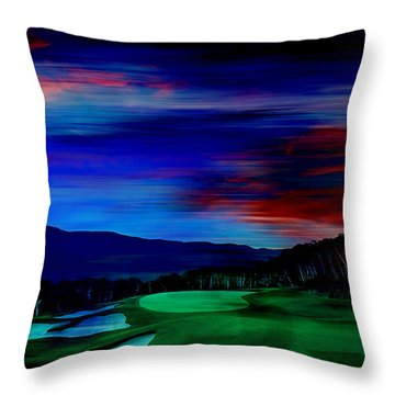 Golf Throw Pillow by Marvin Blaine