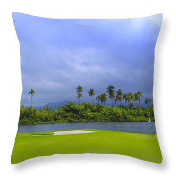 Golfer's Paradise Throw Pillow by Stephen Anderson