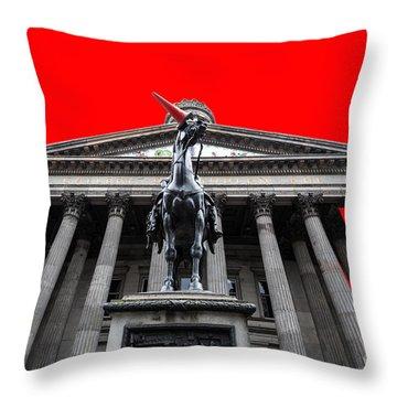 Goma Pop Art Red Throw Pillow by John Farnan