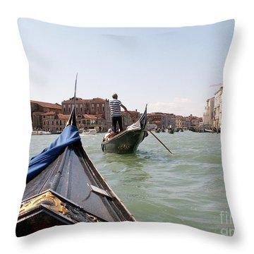 Gondoliers Throw Pillow by Evgeny Pisarev