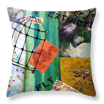 Gone Throw Pillow by Valerie Josi