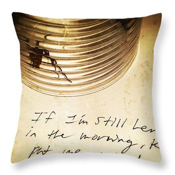 Good Advice - Spider Art By Sharon Cummings Throw Pillow by Sharon Cummings