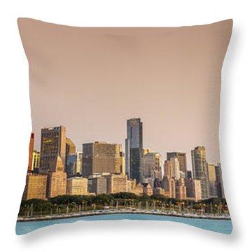 Good Morning Chicago Throw Pillow by Sebastian Musial