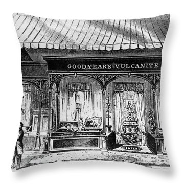 Goodyear Rubber Exhibit Throw Pillow by Underwood Archives
