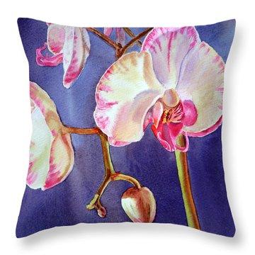 Gorgeous Orchid Throw Pillow by Irina Sztukowski