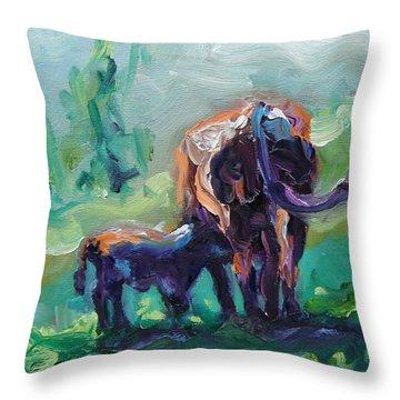 Got Milk Throw Pillow by Donna Tuten