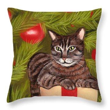 Got Your Present Throw Pillow by Anastasiya Malakhova