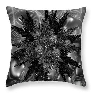 Goth Funeral Wreath Throw Pillow by First Star Art