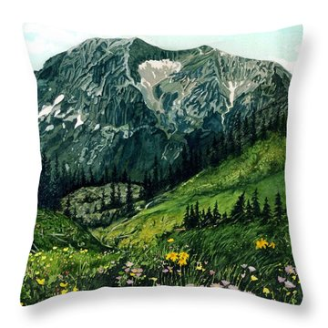 Gothic Grandeur Throw Pillow by Barbara Jewell