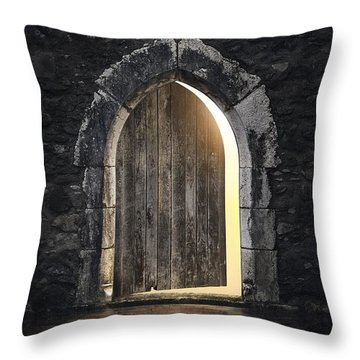 Gothic Light Throw Pillow by Carlos Caetano