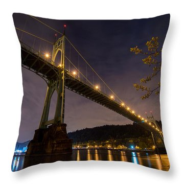 Gothic Sentries Throw Pillow by Chad Dutson