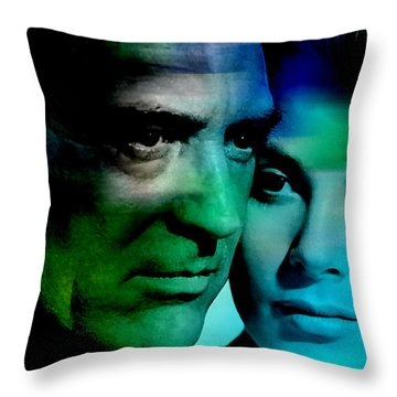Grace Kelly And Cary Grant Throw Pillow by Marvin Blaine