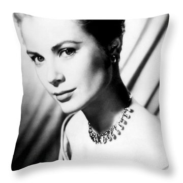 Grace Kelly Throw Pillow by Daniel Hagerman