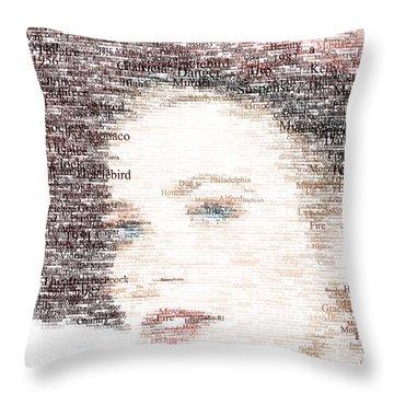 Grace Kelly Typo Throw Pillow by Taylan Soyturk