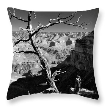 Grand Canyon Bw Throw Pillow by Patrick Witz