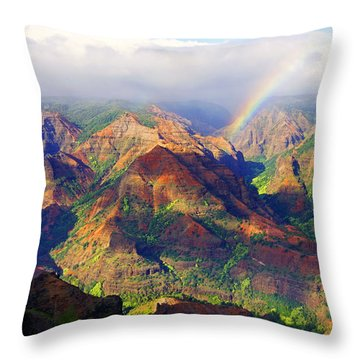 Grand Canyon Of The Pacific Throw Pillow by Kevin Smith