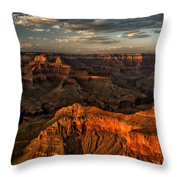 Grand Canyon Sunset Throw Pillow by Cat Connor