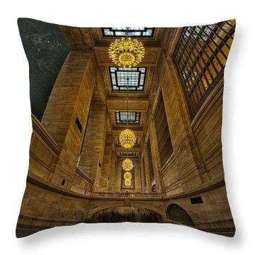 Grand Central Corridor Throw Pillow by Susan Candelario