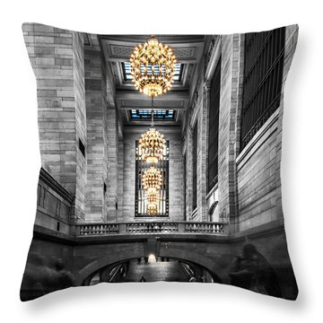 Grand Central Station IIi Ck Throw Pillow by Hannes Cmarits