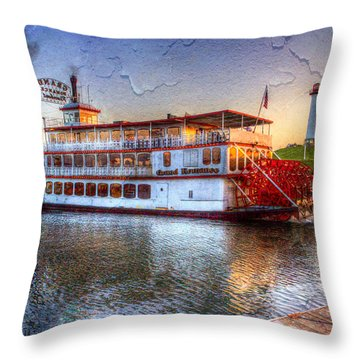 Grand Romance Riverboat Throw Pillow by Heidi Smith