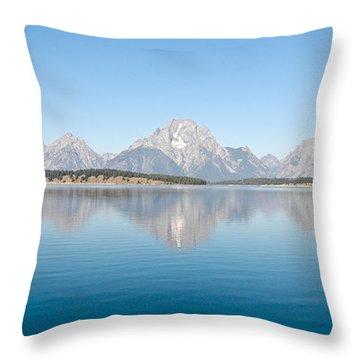Grand Teton National Park Throw Pillow by Sebastian Musial