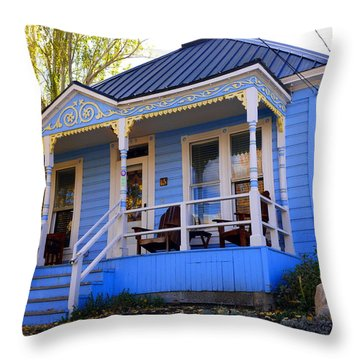Grandma's House Throw Pillow by Jackie Carpenter