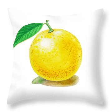 Grapefruit Throw Pillow by Irina Sztukowski