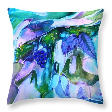 Grapevine Twist Throw Pillow by Pat Purdy