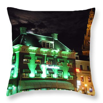 Grasshopper Bar Throw Pillow by Adam Romanowicz