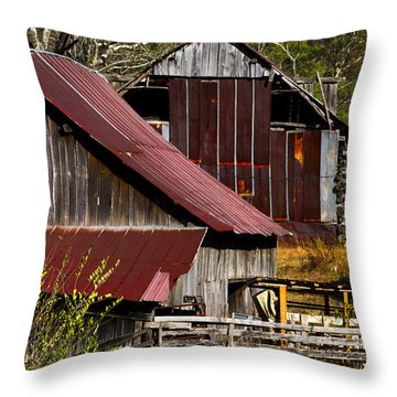 Great Grandpa's Place Throw Pillow by Debra and Dave Vanderlaan