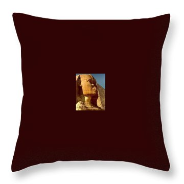 Throw Pillow featuring the photograph Great Sphinx Of Giza by Travel Pics