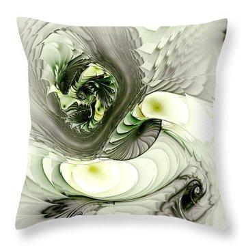 Green Dragon Throw Pillow by Anastasiya Malakhova