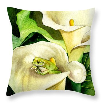 Green Peace Throw Pillow by Lyse Anthony