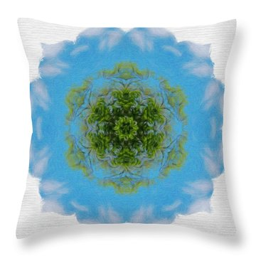 Green Planet Throw Pillow by Jeff Kolker