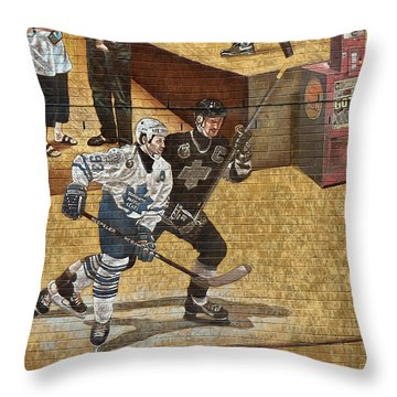 Gretzky And Gilmour 2 Throw Pillow by Andrew Fare