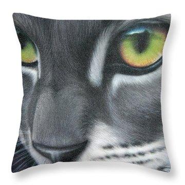 Grey Lady Throw Pillow by Darren Robinson