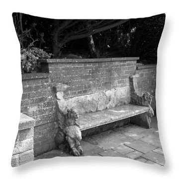 Griffin Bench Throw Pillow by Katie Beougher
