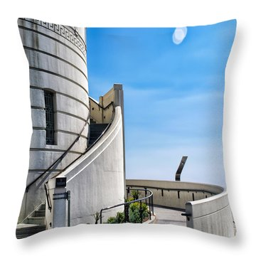 Griffith Stairs Throw Pillow by Camille Lopez