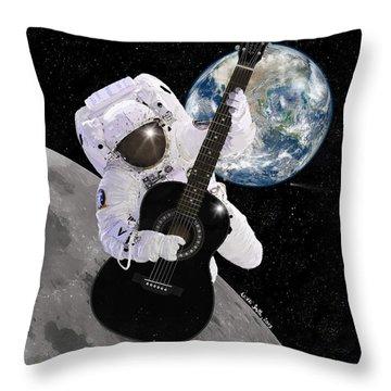 Ground Control To Major Tom Throw Pillow by Nikki Marie Smith