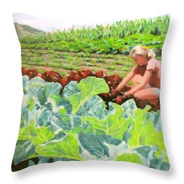 Growing Hope Throw Pillow by Karen Ilari