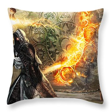 Guildscorn Ward Throw Pillow by Ryan Barger