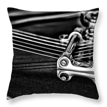 Guitar Reflection Throw Pillow by Karol Livote