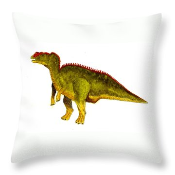 Hadrosaurus Throw Pillow by Michael Vigliotti