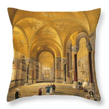 Haghia Sophia, Plate 12 The Meme Throw Pillow by Gaspard Fossati