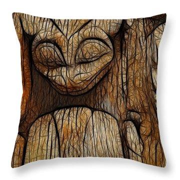 Haida Totem Throw Pillow by Bob Christopher