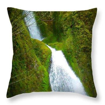 Hakeena Falls Long Throw Pillow by Susan Garren