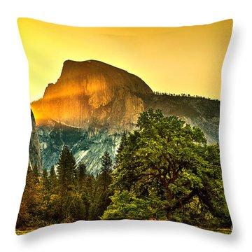 Half Dome Sunrise Throw Pillow by Az Jackson