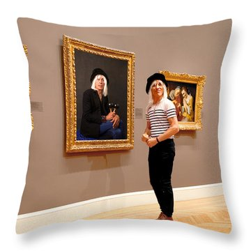 Hall Of Fame Throw Pillow by Daniel Furon