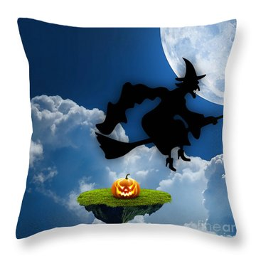 Halloween Night Is Approaching Throw Pillow by Marvin Blaine